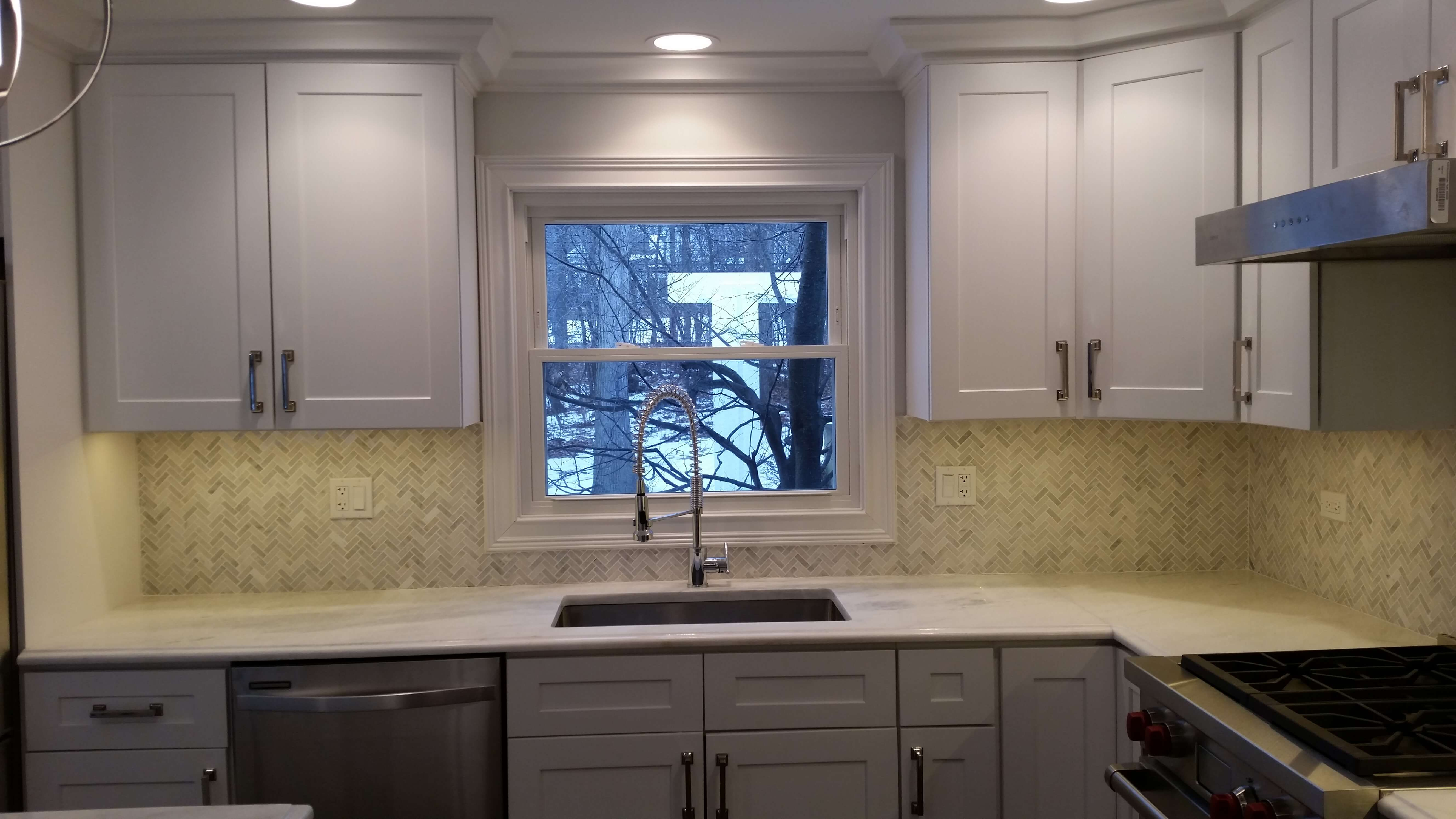 White Maple Shaker Kitchen in Lake Forest