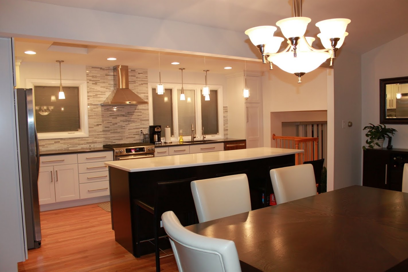Two-Toned White and Kona Kitchen in Morton Grove